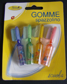 4 Gomme spazzolino